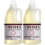 Mrs. Meyer's Clean Day Liquid Laundry Detergent, Cruelty Free and Biodegradable Formula Infused with Essential Oils, Lavender Scent, 64 oz - Pack of 2 (128 Loads)
