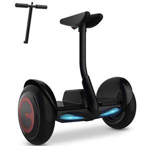 Qnlly Autobalanceados Scooters Eléctricos con Luces LED, De 10 Pulgadas Hoverboards, Gran Regalo para Los Niños, 54V…