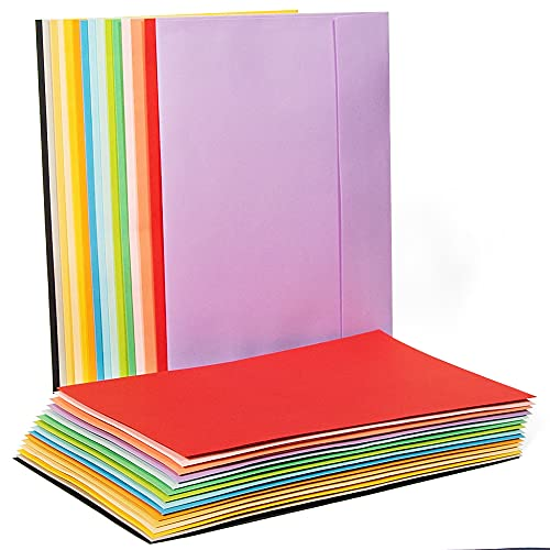 Sodaxx 30 Packs A9 5.75 x 8.75 Inches Colorful Invitation Greeting Card Envelopes (15 Assorted Colors) Self Seal Square Flap Colorful Colored invitation envelopes for Weddings, Photos, Graduation