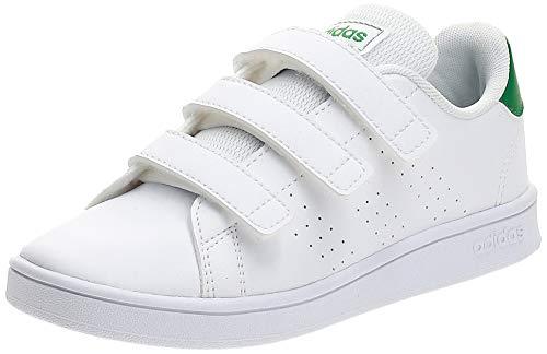 adidas Advantage C, Zapatillas de Tenis Unisex niños, Multicolor Ftwbla Verde Gridos 000, 31 EU