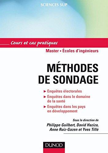 Méthodes de sondage : Applications aux enquêtes longitudinales, à la santé, aux enquêtes...