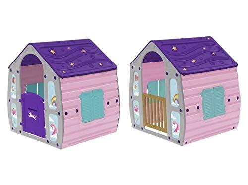COIL Spielhaus für Kinder Gartenhaus Kinderspielhaus Kunstoff (C23561)