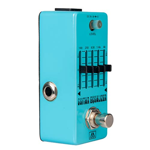 SDENSHI Electric Guitar Effect Pedal 5-Band EQ True Bypass Musical Accessory