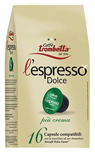 Caffè Trombetta L'Espresso Dolce Più Crema - 220 g