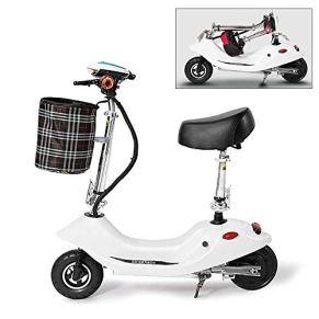 WYFC Motor Mini Bicicleta eléctrica Plegable con luz LED Frontal para Adultos con Asiento