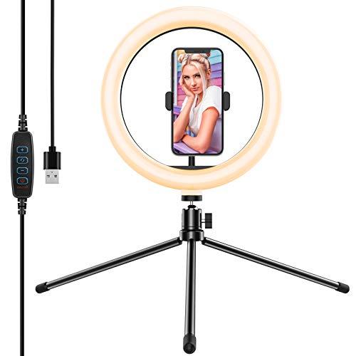 Yoozon 10' Luz de Anillo LED fotográfica de Escritorio, 3 Color...