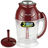 iBELL VC545SG Electric Vegetable Cutter/Chopper, Food & Fruits Chopper, 1 Litre Capacity with Whisking Attachment, Maroon