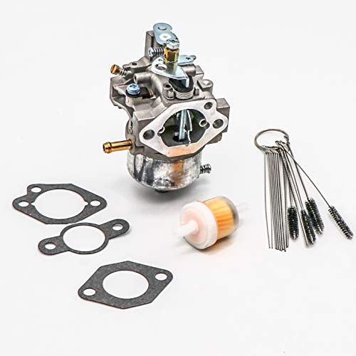 KIPA Carburetor For KAWASAKI Mule 520 550 KAF300D KAF300C KAF300 ATV Quad, Replace OEM 15003-2589, With Mounting Gasket & Carbon Dirt Jet Cleaner Tool Kit