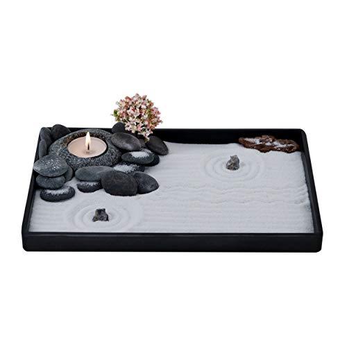 ICNBUYS Handmade Zen Garden Pebble Tealight Candle Holder Set Quiet...