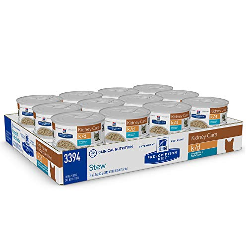 Product Image 2: Hill's Prescription Diet k/d Kidney Care Vegetable, Tuna & Rice Stew Wet Cat Food, 2.9 oz. Cans, 24 Pack
