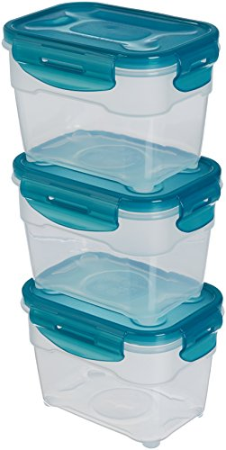 Set di contenitori per alimenti,3 pezzi da 1 L