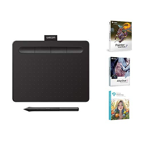 Wacom CTL4100 Intuos Graphics Drawing Tablet with 3 Bonus Software Included, 7.9x 6.3, Black