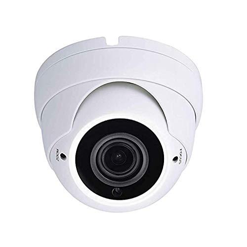 Sinis Hybrid 5MP 4MP 1080P HD-TVI/CVI/AHD/960H CCTV Telecamera di sicurezza di sorveglianza Giorno Night Vision Impermeabile Outdoor/Indoor 2.8-12mm Varifocal Lens Metallo bianco Dome Video System