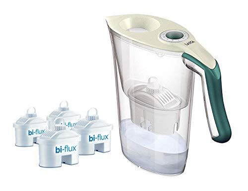 Laica Kit J9059 Caraffa Filtrante per il Trattamento dell'Acqua Carmen Tosca con 4 Filtri Bi-Flux,...