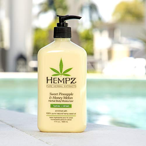 Hempz Sweet Pineapple & Honey Melon Moisturizing Skin Lotion, Natural Hemp Seed Herbal Body Moisturizer with Jojoba, Natural Extracts, Vitamin A and E, 17 oz 7