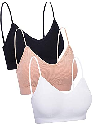 V neck design: each tube bra is designed with v-neck, which can show your figure and bring a different visual effect; Removable and elastic: the inside pad of each bra is removable and the strap is elastic, can satisfy your different needs Soft mater...