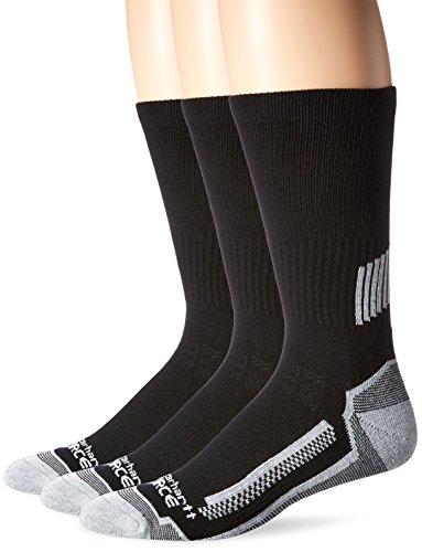 Carhartt Men's Force Performance Work Crew Socks (3/6 Packs), Black, Shoe...