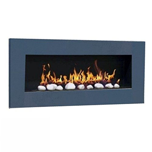 Ethanol & Gel Fuel Fireplace Fireside Model XXL Design + free 24 decorative stones (anthracite)