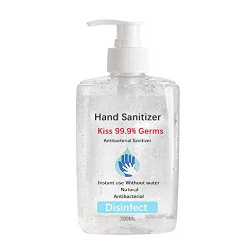 yeyeyo Disposable Hand Sanitizer Gel 300 ml Natural Safety All-Purpose Cleaner Liquid Hand Soap No Clean Quick Drying Hand Cleanser with Pump