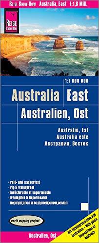 Australia este, mapa impermeable de carreteras. Escala 1:1.800.000 impermeable. Reise Know-How.
