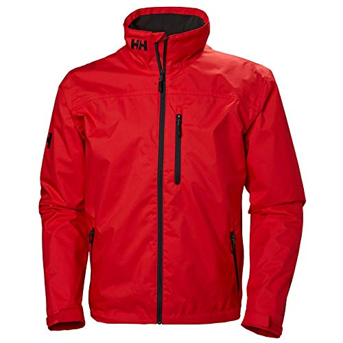 Helly Hansen Crew Midlayer Chaqueta deportiva impermeable, Hombre, Rojo (Alert Red 222), L