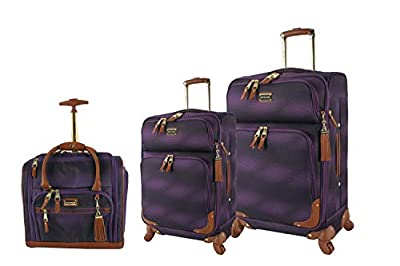 ✈️ BUILT FOR TRAVEL; Travel lighter than ever with this 3-piece luggage set; The softside design can collapse a bit to fit more easily into tight spaces (compared to hardside); The lightweight construction helps you adhere to airline weight restricti...