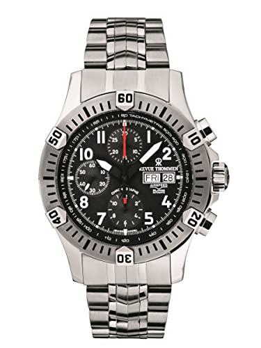 Revue Thommen Automatik Armbanduhr Airspeed XLarge Pioneer Chrono 16071.6134