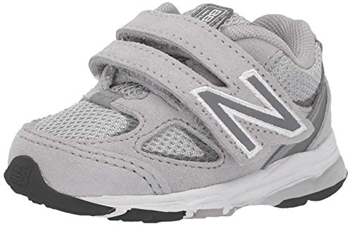 New Balance Kid's 888 V2 Hook and Loop Running Shoe, Grey/Grey, 13.5 XW US Little Kid