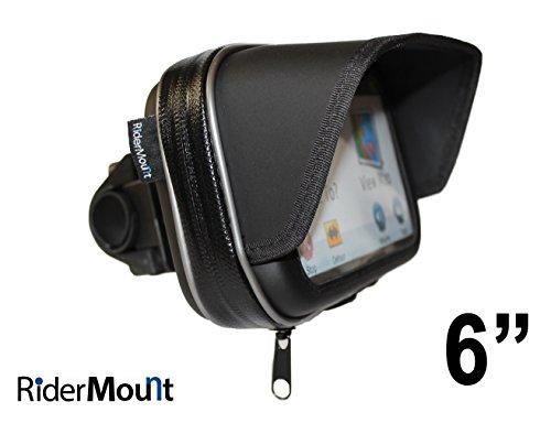 RiderMount wasserdichter Sonnenschutz für GPS/SatNav, Hülle mit Motorradlenker-Halterung, für Garmin TomTom 15,2 cm (6 Zoll)