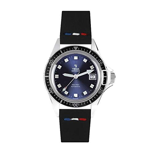 Orologio da uomo YEMA Superman Heritage Blue Movimento svizzero ETA 2824-2500 esemplari numerati...