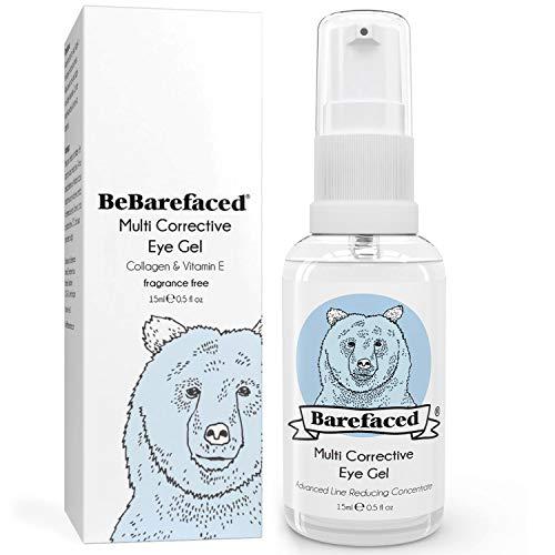 BeBarefaced 3 in 1 Augencreme Augenringe - mit Marine Collagen, Arganöl & Vitamin E - Vegane Schönheitsprodukte