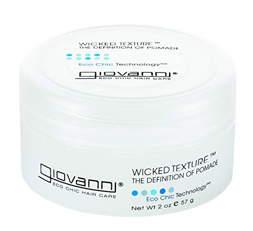 Giovanni Wicked Texture Styling Pomade - Eco Chic Wax Hair Gel, 2 Ounce (Pack of 1)