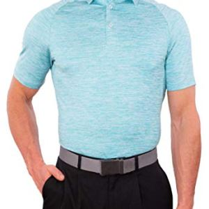 CC Performance Slim Fit Golf Shirts for Men Dry Fit Tech Fabric | Wrinkle Resistant Mens Polo Shirts Slim Fit + Stretch