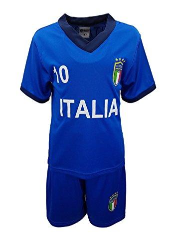 Unbekannt Fussball Fan Set Italien Italia Trikot + Shorts in Blau, Gr. 122, JSn77b.8