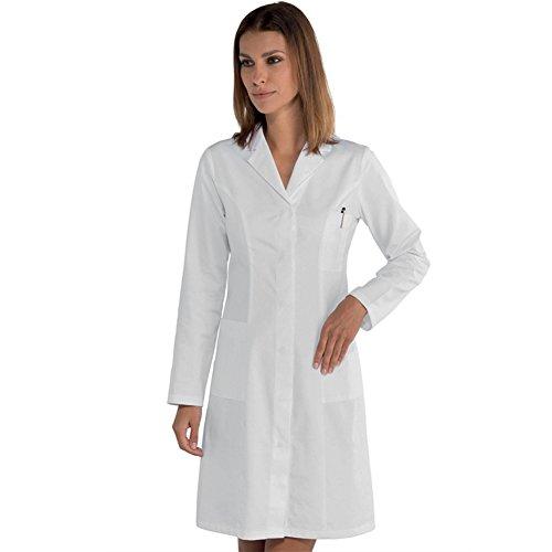 Hunter Camice da Donna Medico Farmacista erboristeria in Cotone Classico ospedaliero (S)