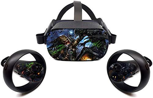 Oculus Quest Accessories Skins Alien vs. Predator 1 Oculus Quest VR Headset and Controller Decal Sticker Protective Bafna Anusha