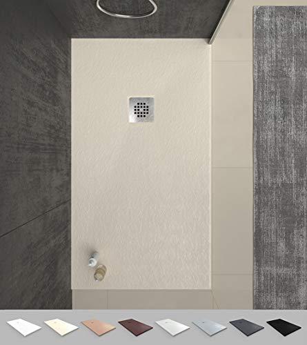VAROBATH -Plato de ducha de Resina Crema , extraplano, antid