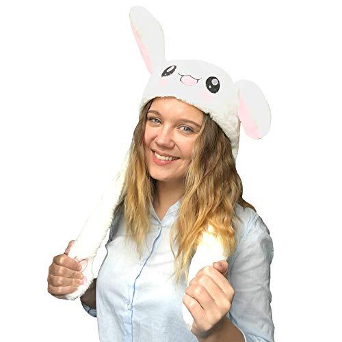 JSVER Funny Peluche Cappellino Cappello/Cute Animal Hat/Testa-Wear Costume Accessorio con Le Orecchie Spuntando Quando si Preme il Zampe