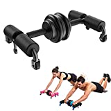 aoyi Ab Wheel Roller Kit with Knee Pad and Resistance Bands, Push up Bar Sit up Assistant Exercise Equipment, Multifunctional Abs Workout Equipment, Home Gym Fitness Device for Men Women