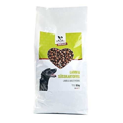 DOGS-HEART Lamm& Süßkartoffel 15kg - Hundefutter trocken Getreidefrei mit hohem Fleischanteil, Glutenfrei