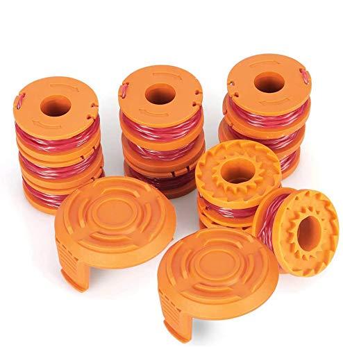 Bobine di filo di ricambio per tosaerba/tagliabordi Worx WA0010 (12 bobine per Worx WA0010),...