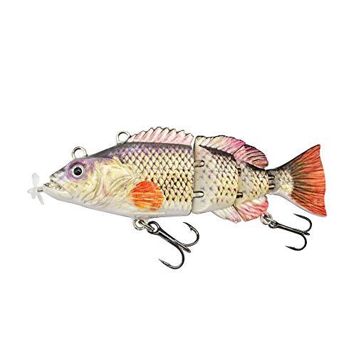 ods lure Robotic Swimming Lure 10 cm Esca Elettrica Ricaricabile USB LED Luce 4 Segmenti Giunti Swimbait Attrezzatura da Pesca (colore 3)
