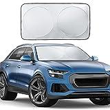 Windshield Sun Shade, Ohuhu Auto Car Sun Shade for Windshield Sunshade Sun Visor for Car Windshield...