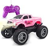 Pink Remote Control Jeep Car Toy for Girls Kids Toddlers Birthday Christmas Gifts - Great Toy RC Car for Girls