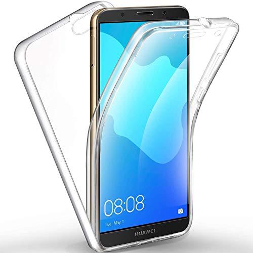 NewTop Cover per Huawei Y5 2018/Honor 7S, Custodia Crystal Case TPU Silicone Gel e PC Protezione 360° Fronte Retro Anti Graffio Completa (per Y5 2018 / Honor 7S)
