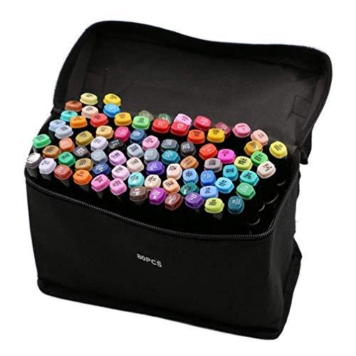 Vallteng 80 Colori Disegno Pennarello Art Sketch Pennarelli Double Ended Marcatori Graphic Marker...