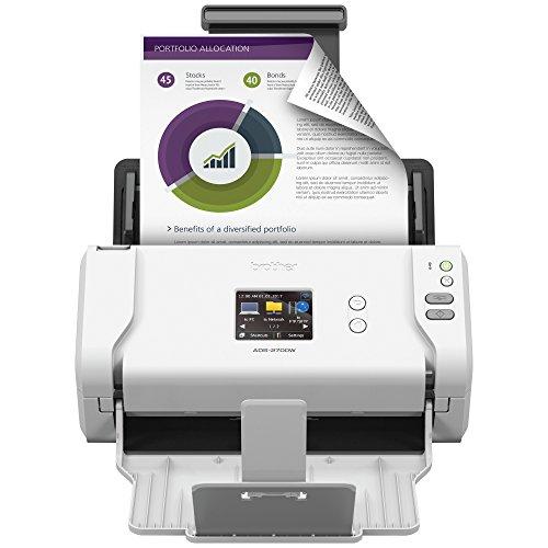 Brother Wireless High-Speed Desktop Document Scanner, ADS-2700W, Touchscreen LCD, Duplex Scanning