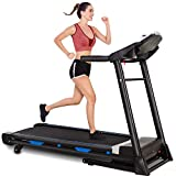 Folding Treadmill with Automatic Incline, 3.25HP, 300 lbs Weight Capacity, App Contorl, Electric Auto Incline Treadmill for Home Running & Walking with Bluetooth Speaker, Large Screen