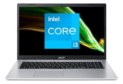 Acer Aspire 3 A317-53-34A6 Intel Core i3 Ordinateur Portable 17.3'' HD+, PC Portable (RAM 8 Go, SSD 512 Go, Intel UHD Graphics, Windows 10) - Clavier AZERTY (Français), Laptop Gris