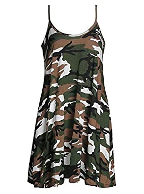 """Womens Stylish Plus Size Rose Skull Check, Spicy Boom, Army, Leopard Brown Print Swing Dress Material: 95% Viscose 5% Elastane Approximate Length: 32"""" Made In UK Size Guideline = SM USA(6-8)= UK (8-10), ML USA(10-12)= UK(12-14), XL USA(14-16)= UK (16..."""